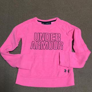 アンダーアーマー(UNDER ARMOUR)のアンダーアーマーキッズYSM120130ガールズ裏起毛トレーナー蛍光ピンク系(Tシャツ/カットソー)