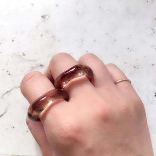 ブラウンべっこうリング ☆ 約16号(リング(指輪))