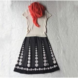 fredy - 【美品】fredy サークルドット 幾何学模様のスカート 38