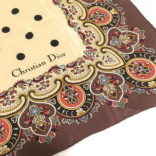 クリスチャンディオール(Christian Dior)のシルク100%⭐︎Diorディオールのスカーフ☆ミセス マダム エレガント 高級(バンダナ/スカーフ)