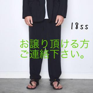 COMOLI - 求) COMOLI 18SS  シルクネップテーパードパンツ BLACK 1