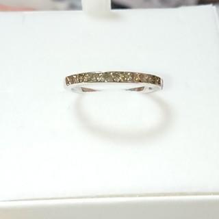 18号 K18WG ダイヤモンド 0.7ct シャンパンカラー(リング(指輪))