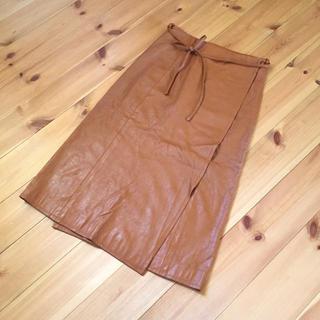 バーニーズニューヨーク(BARNEYS NEW YORK)のパルクラミュー フェイクスエード 膝丈巻きスカート(ひざ丈スカート)