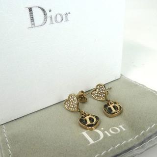 クリスチャンディオール(Christian Dior)のクリスチャンディオール ハート カナージュ ラインストーン ピアス 32-57(ピアス)