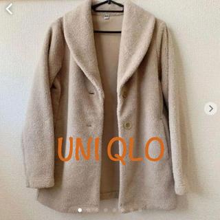 ユニクロ(UNIQLO)のユニクロ フリースハーフコート(S)(ピーコート)