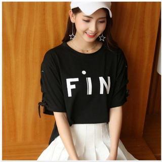 2XL(XLサイズ相当)Tシャツ プリント 半袖 チュニック レディース(Tシャツ(半袖/袖なし))