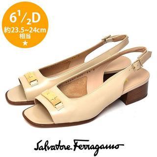 Salvatore Ferragamo - 新品❤️フェラガモ バックバンド サンダル 6 1/2D(約23.5-24cm)