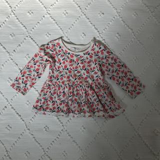 アカチャンホンポ - 赤ちゃん本舗 花柄 チュニック  裾レース