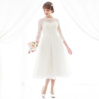 ミモレ丈ドレス 二次会 花嫁(ウェディングドレス)