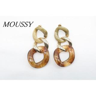 マウジー(moussy)の【S364】MOUSSY マウジー チェーン ピアス べっ甲柄 マーブル 3連(ピアス)