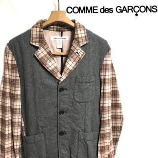 COMME des GARCONS - フランス製!COMME desGARCONSウール×チェックテーラードジャケット