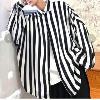 ZARA - 韓国 ドルマン ストライプシャツ オーバーサイズ