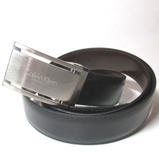 カルバンクライン(Calvin Klein)の新品 カルバンクライン メンズベルト バックルタイプ ブラック NO,D-22(ベルト)