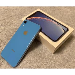 iPhone - iPhone XR 64GB ブルー SIMロック解除済