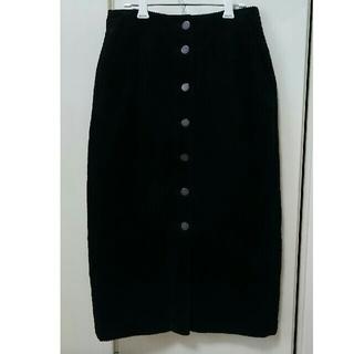 GU - GU コーデュロイスカート(黒)