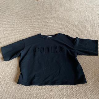 ジーユー(GU)のGU 黒 Tシャツ タグなし新品(Tシャツ(半袖/袖なし))
