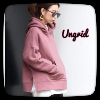 Ungrid - Ungrid アングリッド スリットワイドパーカー/ピンク