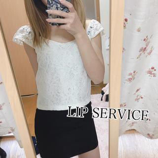 リップサービス(LIP SERVICE)の45✧LIP SERVICE tops【F】(カットソー(半袖/袖なし))