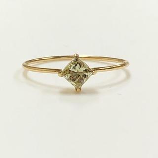 K18 プリンセスダイヤモンドリング(リング(指輪))