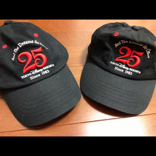 Disney - 25周年記念 TDR 限定 キャップ 帽子 2つセット レア  ディズニーランド