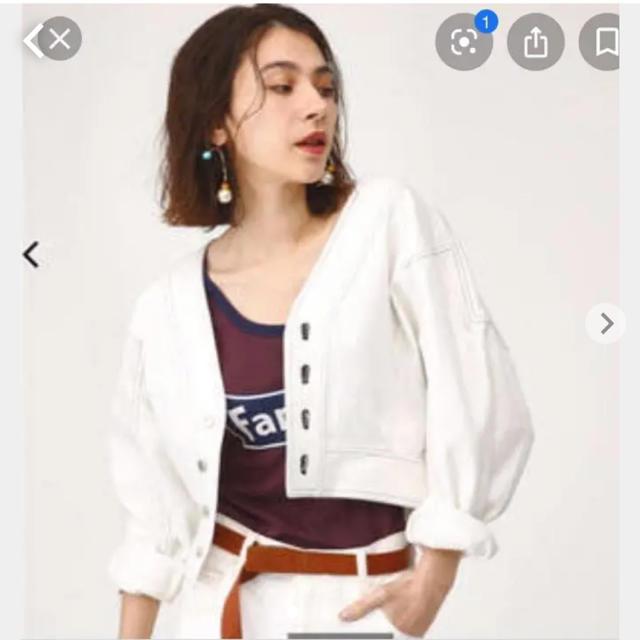 SLY(スライ)のsly  Gジャン ホワイト レディースのジャケット/アウター(Gジャン/デニムジャケット)の商品写真