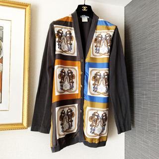 エルメス(Hermes)の良品 エルメス スカーフ シルク ロング カーディガン ジャケット(カーディガン)