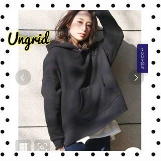Ungrid - Ungrid アングリッド スリットワイドパーカー/ブラック