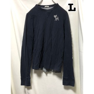 Abercrombie&Fitch - 331 アメリカ古着   アバクロ 長袖 カットソー ネイビー