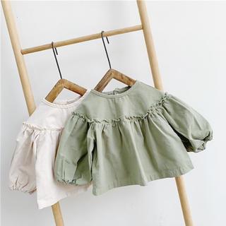 韓国子ども服 フリル ブラウス