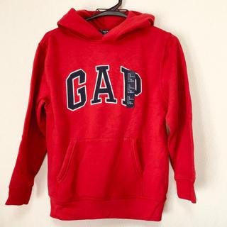 ギャップキッズ(GAP Kids)の新品◆140cm GAP赤裏起毛ロゴパーカー(その他)
