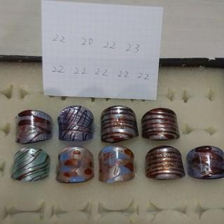 ガラスの指輪 リング セット 大きめ 大きいサイズ(リング(指輪))