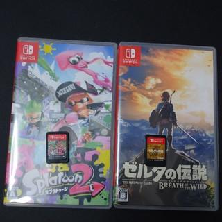 Nintendo Switch - スイッチ ソフト2本 スプラトゥーン2 ゼルダの伝説 ブレスオブザワイルド
