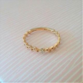 ジュピターゴールドレーベル(jupiter GOLD LABEL)の最終価格♪【Jupiter】K10☆3号☆リング☆ダイヤモンド0.01ct(リング(指輪))