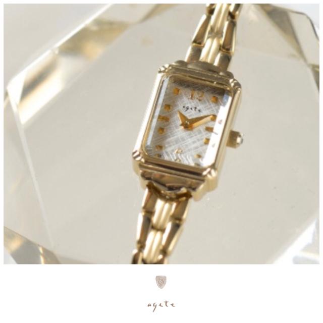 agete(アガット)のagete♡スクエアフェイスジュエリーウォッチ♡アガット レディースのファッション小物(腕時計)の商品写真