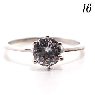C206 リング 16号 CZ ダイヤモンド シンプル ブライダル 前撮り(リング(指輪))
