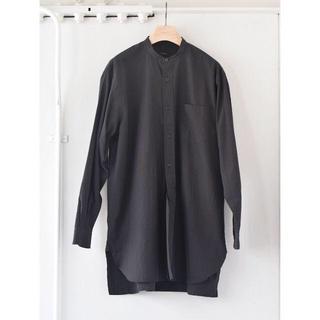 COMOLI - comoli コモリ バンドカラーシャツ 3 black