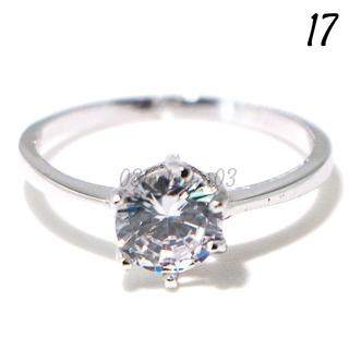 C207 リング 17号 CZ ダイヤモンド シンプル ブライダル 前撮り(リング(指輪))