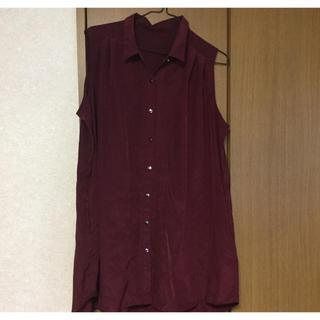ジーユー(GU)のGU   レディース ノースリーブシャツ    ブラウス(シャツ/ブラウス(半袖/袖なし))