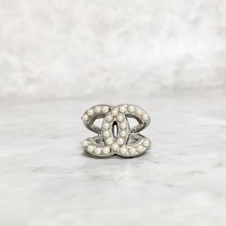 CHANEL - 正規品 シャネル 指輪 シルバー ココマーク パール 真珠 ロゴ 銀 リング 2