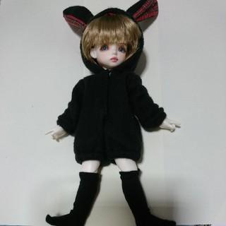 ボークス(VOLKS)のすぐ買える◆幼SDサイズの着ぐるみ黒うさぎ◆黒ウサギ着ぐるみ服◆(人形)