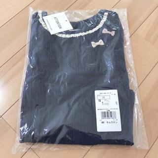 ビケット(Biquette)の新品未開封❤ビケット 長袖 ネイビーブルー リボン 95(Tシャツ/カットソー)