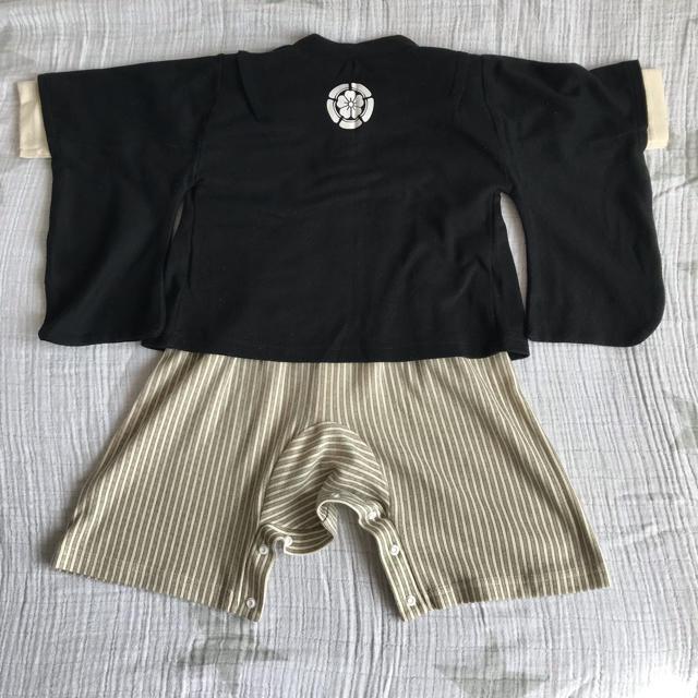 袴風ロンパース 80cm キッズ/ベビー/マタニティのベビー服(~85cm)(和服/着物)の商品写真