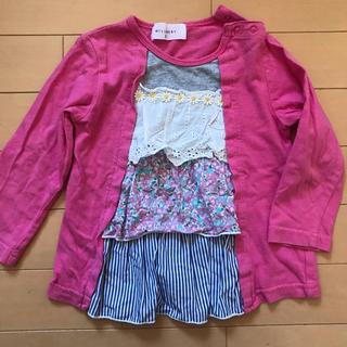 WILL MERY - ガールズ 長袖Tシャツ ロンT ピンク 95cm