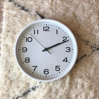 ムジルシリョウヒン(MUJI (無印良品))の無印良品 アナログ掛け時計 大 白(掛時計/柱時計)