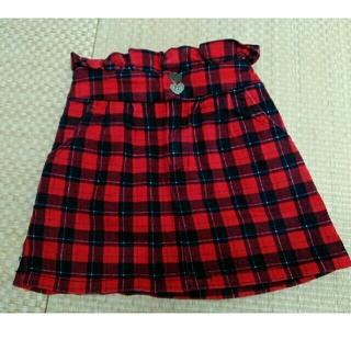 イングファースト(INGNI First)のイングファーストの赤色チェックスカート(スカート)