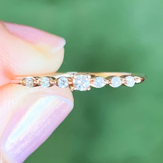 ヨンドシー(4℃)の美品‼️オデュース4℃ k10 ダイヤリング k10リング(リング(指輪))