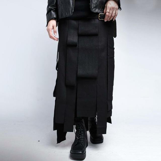 antiqua(アンティカ)のアンティカ アシメモードロングスカート☆未使用 レディースのスカート(ロングスカート)の商品写真