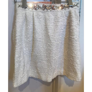 レディー(Rady)の白のツイードスカート(ミニスカート)