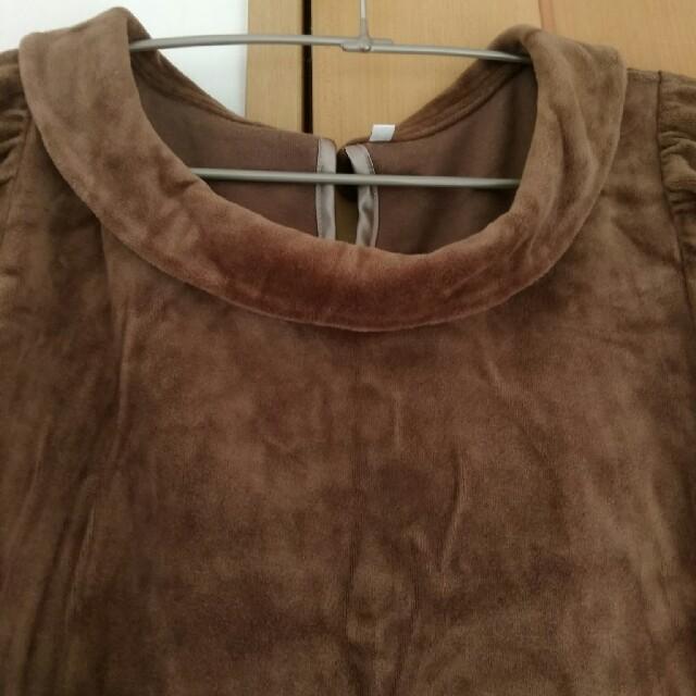 MUJI (無印良品)(ムジルシリョウヒン)のベロア ワンピース レディースのワンピース(ひざ丈ワンピース)の商品写真