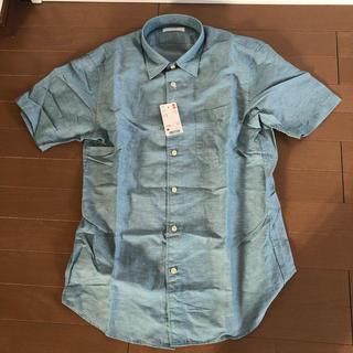 ユニクロ(UNIQLO)のユニクロリネンコットンシャツ 新品タグ付き(シャツ)